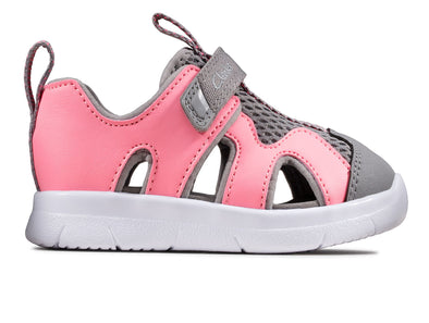 Clarks Ath Surf T in Pink Grey outer view