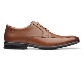Clarks Bensley Run Dark Tan Leather outer view