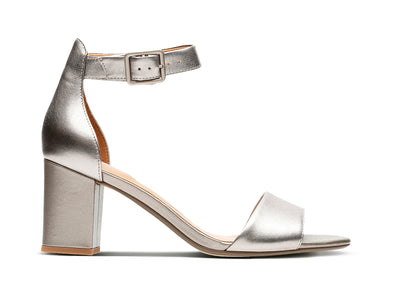 Clarks Deva Mae in Pewter outer view