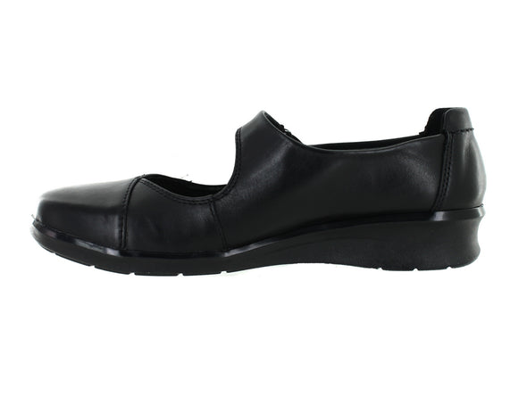 Clarks Hope Henley in Black Leather inner view