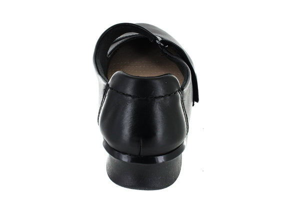 Clarks Hope Henley in Black Leather back view
