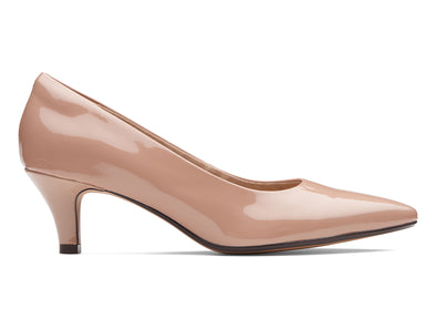 Clarks Linvale Jerica in Nude Patent outer view