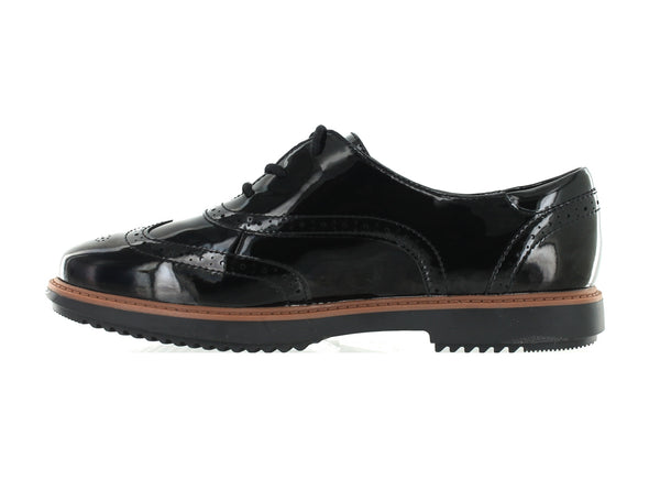 Clarks Raisie Hilde in Black Patent inner view