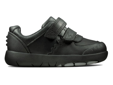 Clarks Rex Pace T Infant black outer view