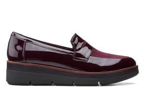 Clarks Shaylin Step Aubergine Combi outer view