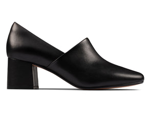 Clarks Sheer Lily in Black Lether outer view