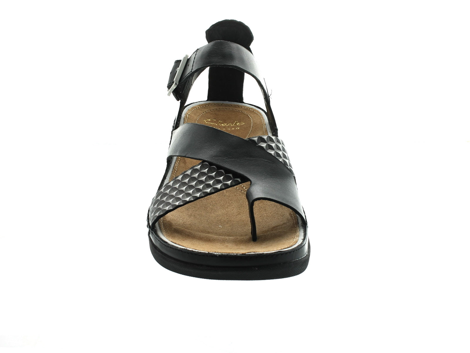 Clarks Tri Ariana in Black Combi front view