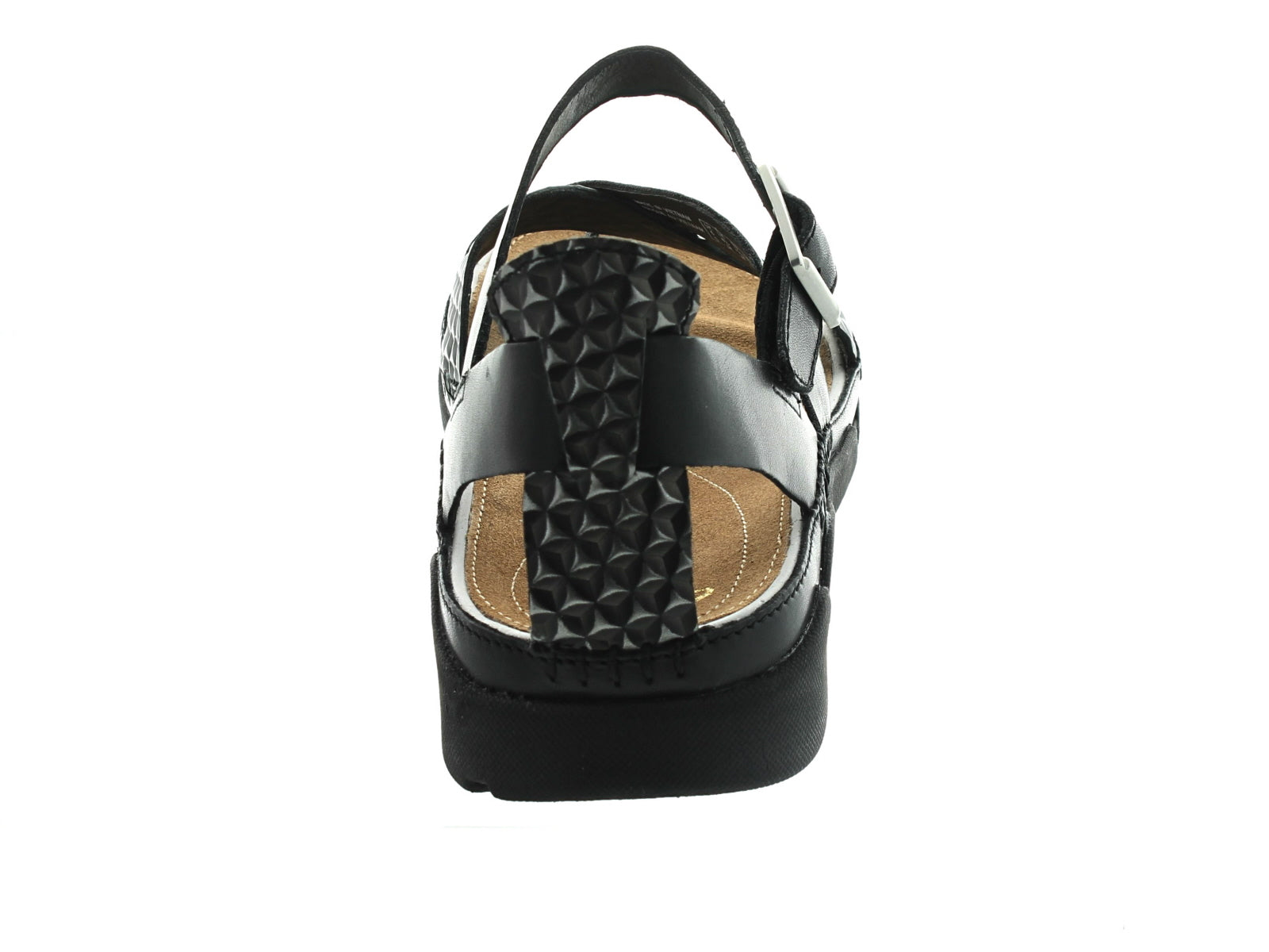 Clarks Tri Ariana in Black Combi back view
