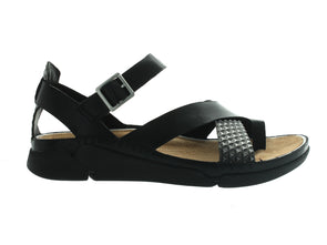 Clarks Tri Ariana in Black Combi outer view