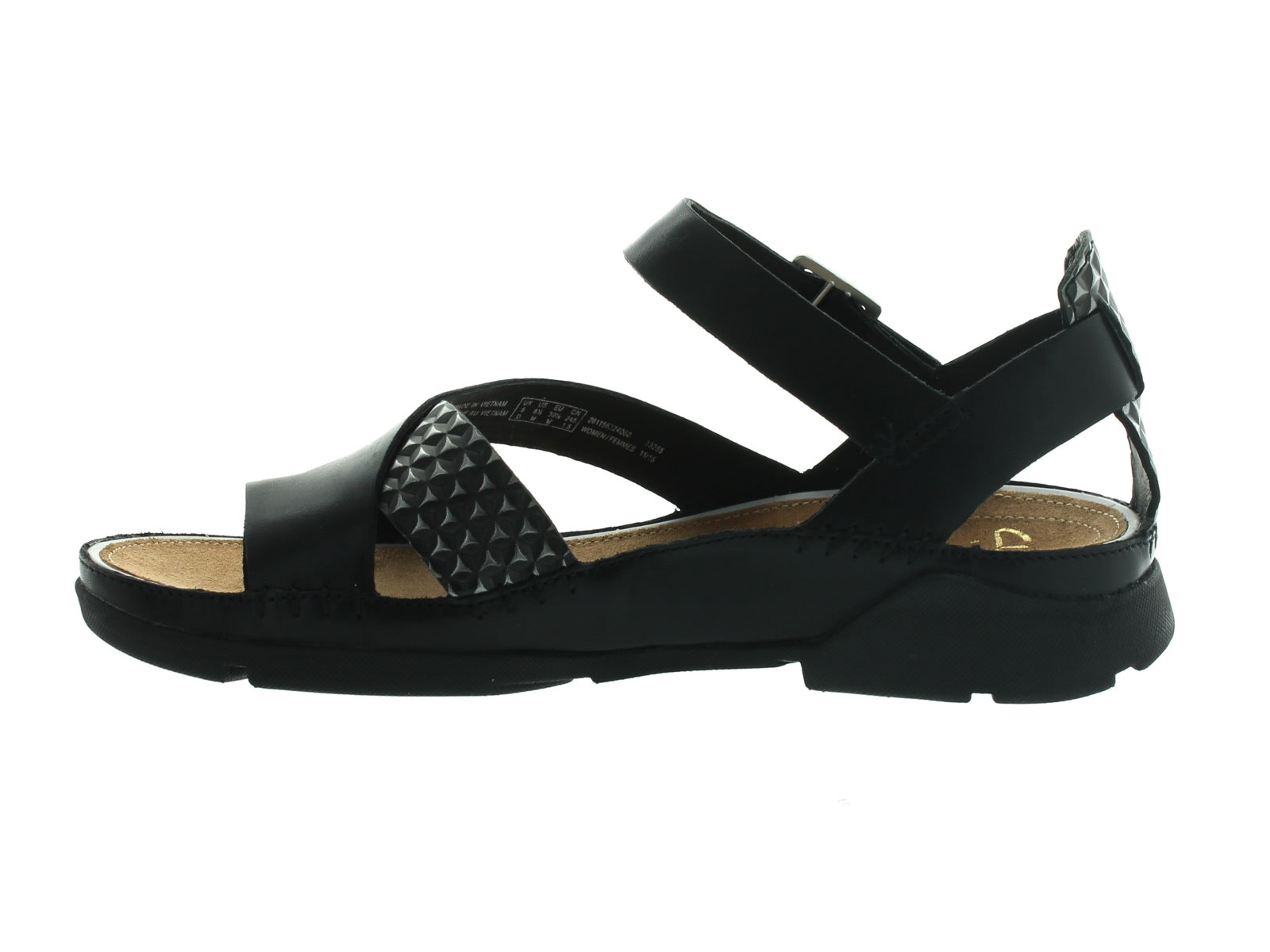 Clarks Tri Ariana in Black Combi inner view
