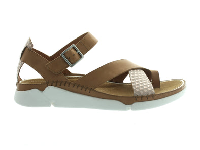 Clarks Tri Ariana in Tan Combi outer view