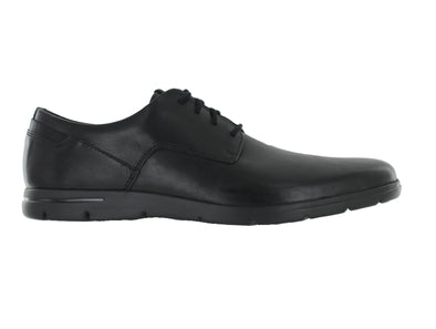 Clarks Vennor Walk in Black leather outer view