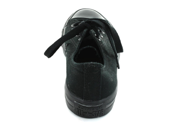 Converse All Star Ox in Black Mono back view