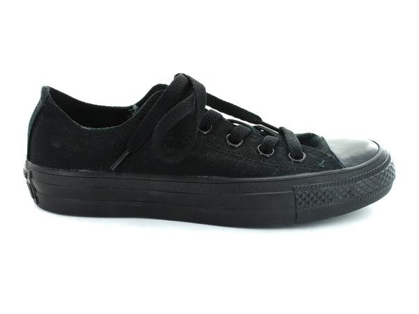 Converse All Star Ox in Black Mono outer view
