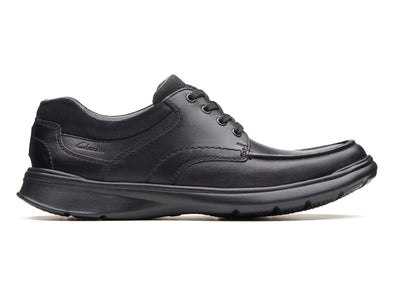 Clarks Cotrell Edge in Black Smooth Leather outer view