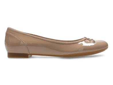 Clarks Couture Bloom in Nude Patent outer view