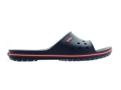 Crocband 11 Slide in Navy outer view