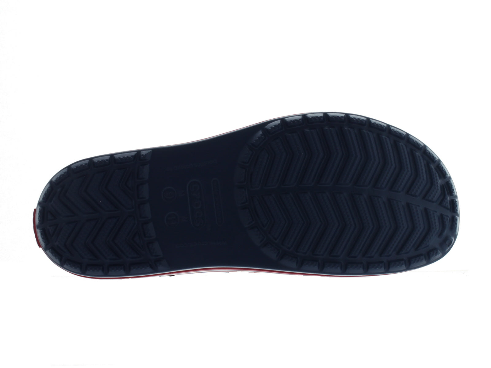Crocband 11 Slide in Navy sole view