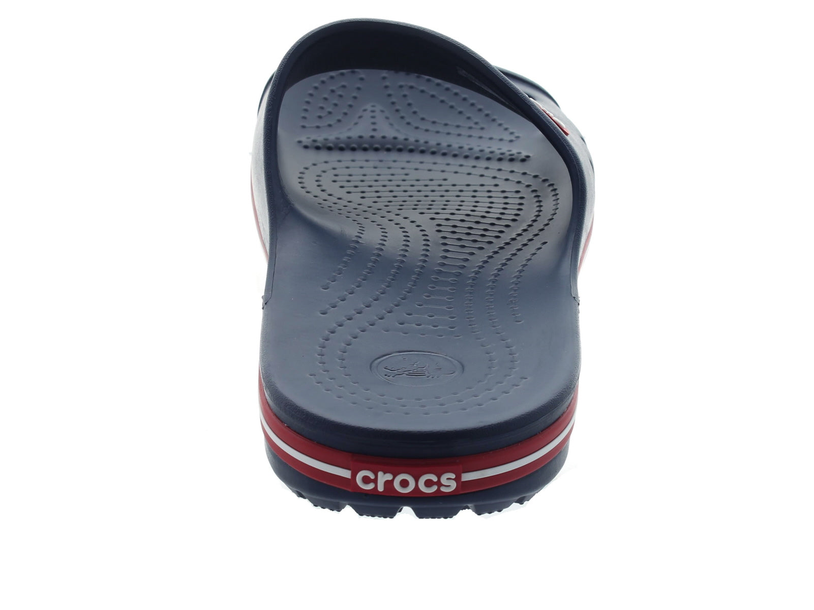Crocband 11 Slide in Navy back view