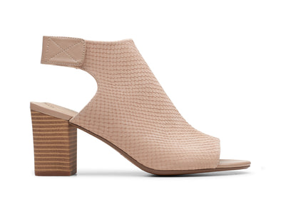 Clarks Deva Bell in Sand Nubuck outer view