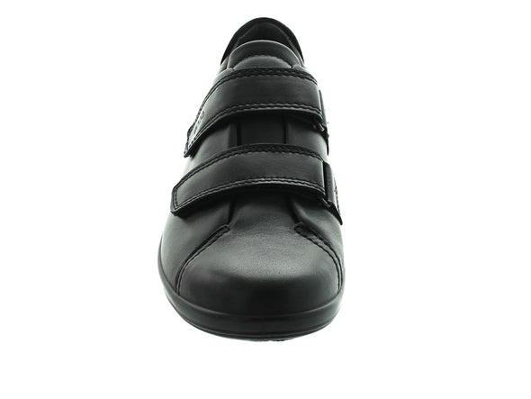 Ecco 206513 Soft 2.0 in Black front view