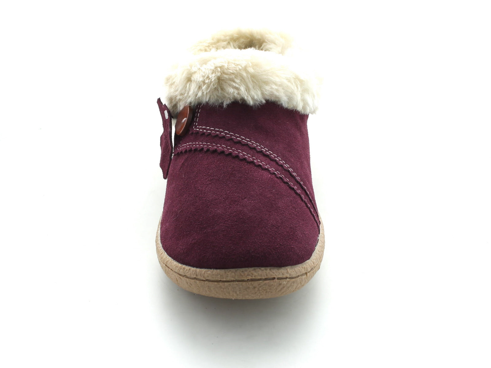 larks Eskimo Snow in Berry Suede front view