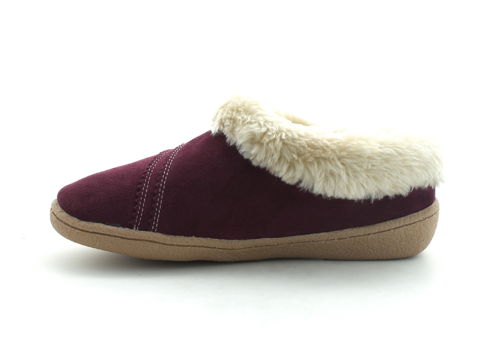 Clarks Eskimo Snow in Berry Suede inner view