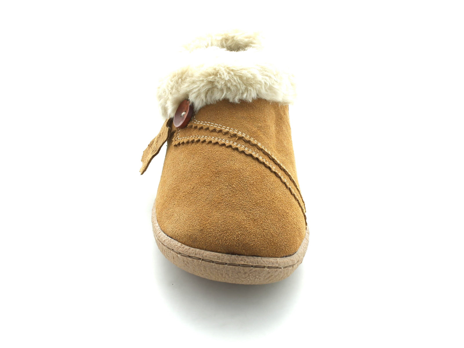 Clarks Eskimo Snow in Tan Suede front view