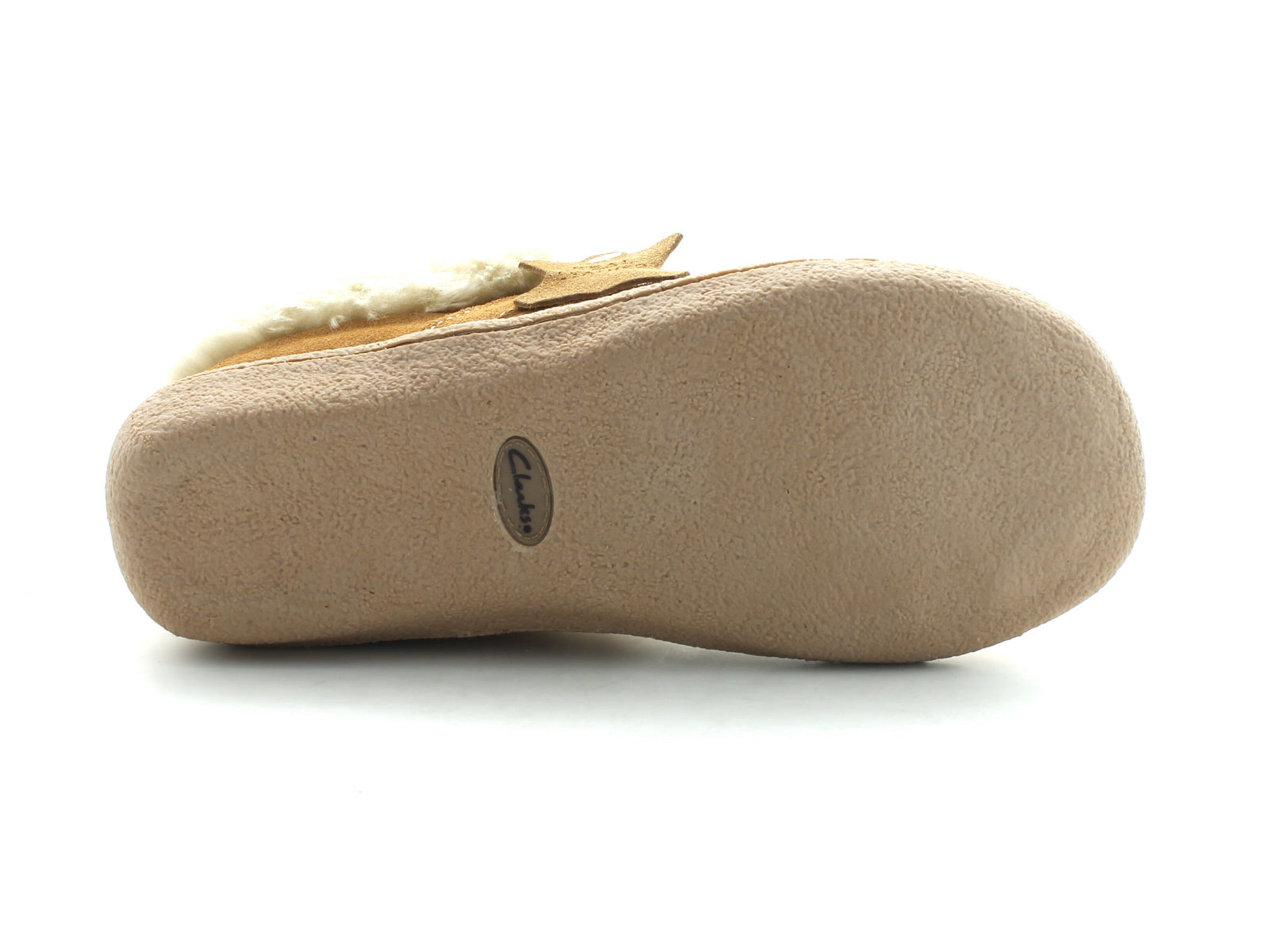 Clarks Eskimo Snow in Tan Suede sole view