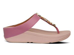 FitFlop Lulu Toe-Post in Heather Pink outer view