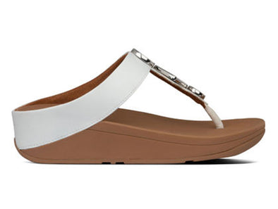 FitFlop Lulu Toe-Post in Urban White outer view