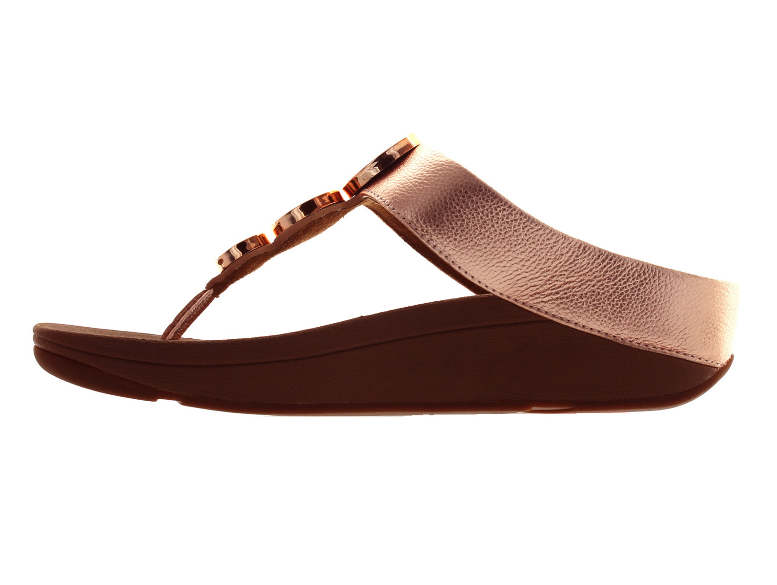 70086627a Fitflop Halo Toe Thong - Rose Gold