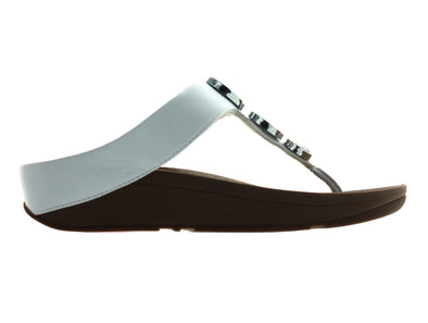 Fitflop Halo Toe Thong in White outer view