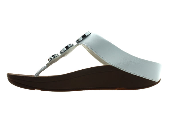 Fitflop Halo Toe Thong in White inner view