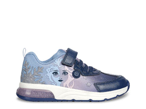 Geox Spaceclub Frozen in Lilac Navy outer view