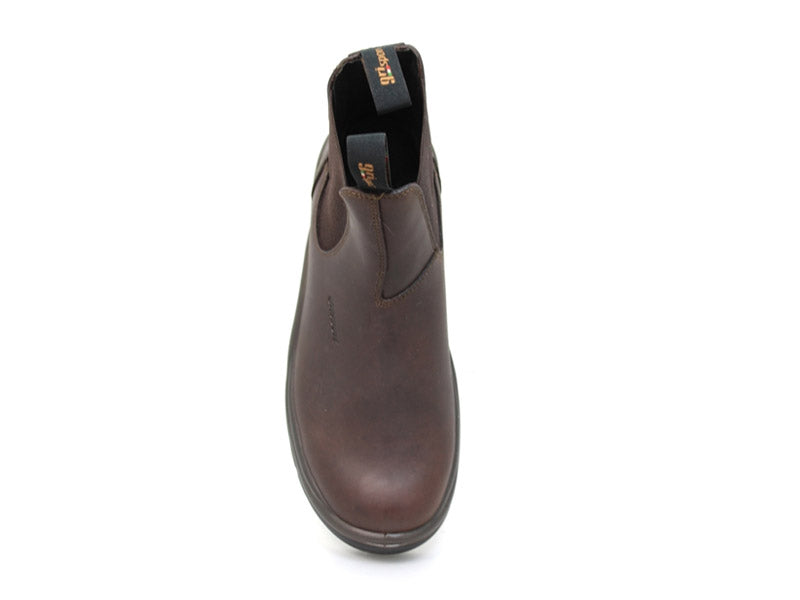 Gri Sport Chukka in Brown Leather front view