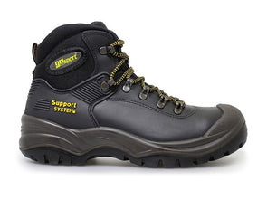 Gri Sport Contractor Safety Boot in Black outer view