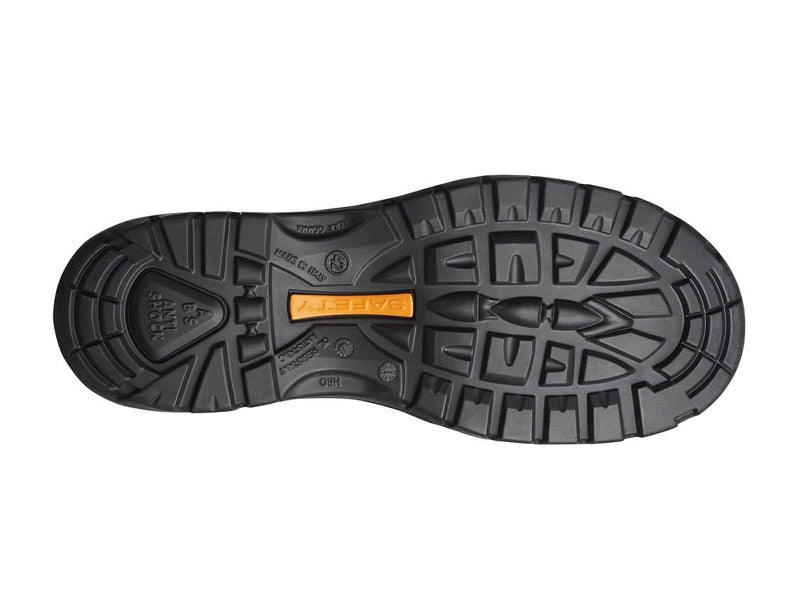 Gri Sport Contractor Safety Boot in blacl sole view