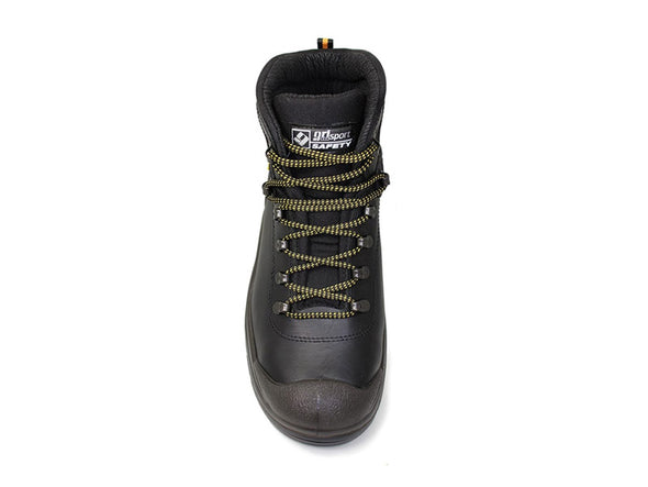 Gri Sport Contractor Safety Boot in Black front view