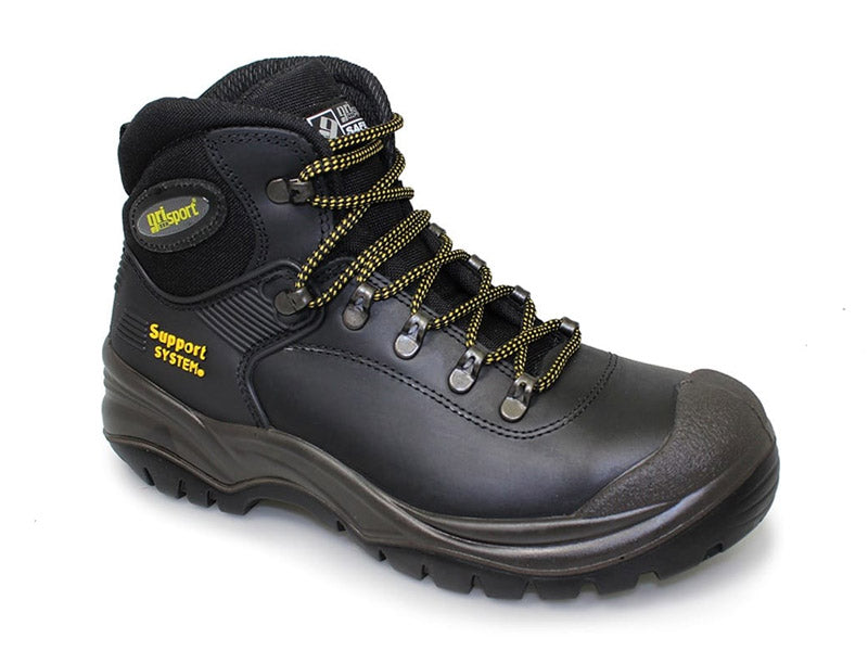 Gri Sport Contractor Safety Boot in black back view