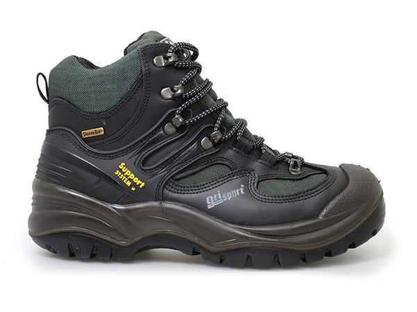Gri Sport Director Steel Toe Waterproof Safety Shoe in black leather outer view