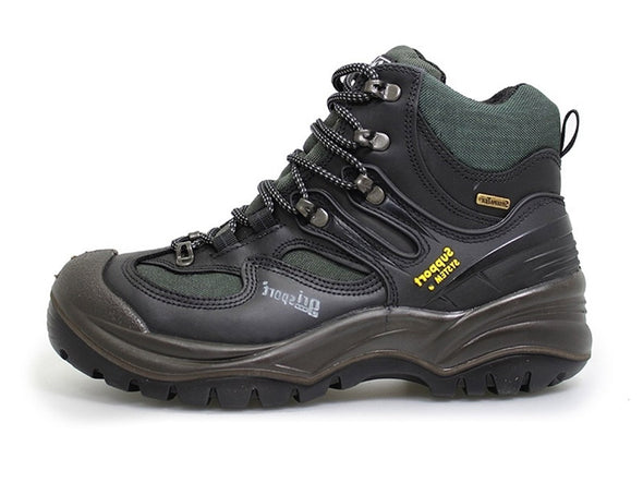 Gri Sport Director Steel Toe Waterproof Safety Shoe in black leather inner view