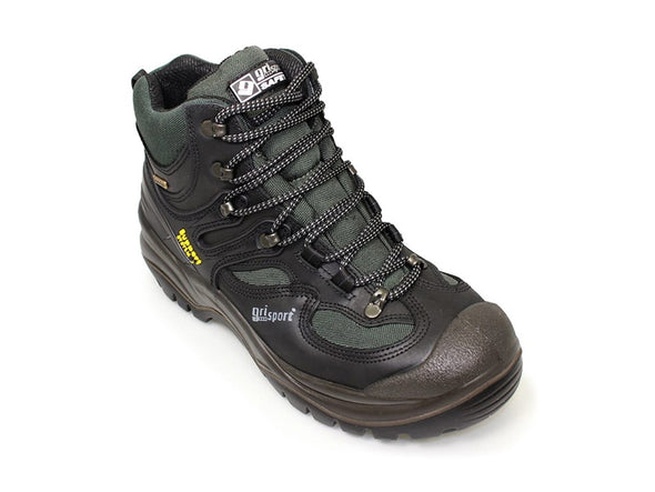 Gri Sport Director Steel Toe Waterproof Safety Shoe in black leather back view