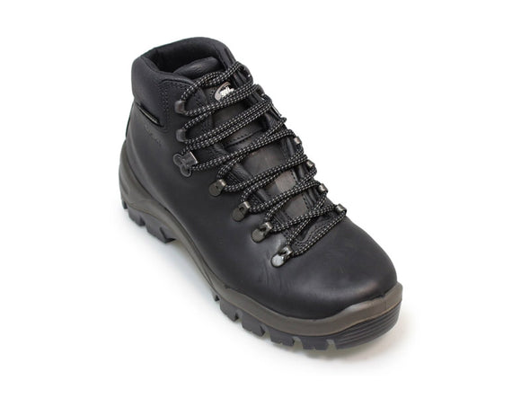 Gri Sport Peaklander Waterproof Hiking Boots in black leather back view