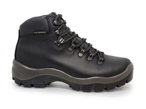 Gri Sport Peaklander Waterproof Hiking Boots in black leather outer view