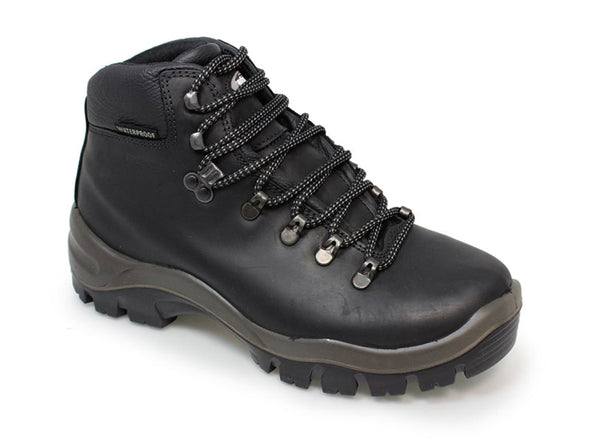 Gri Sport Peaklander Waterproof Hiking Boots in black leather inner view