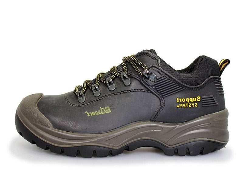 Gri Sport Worker Steel Toe Safety Shoe in black leather inner view