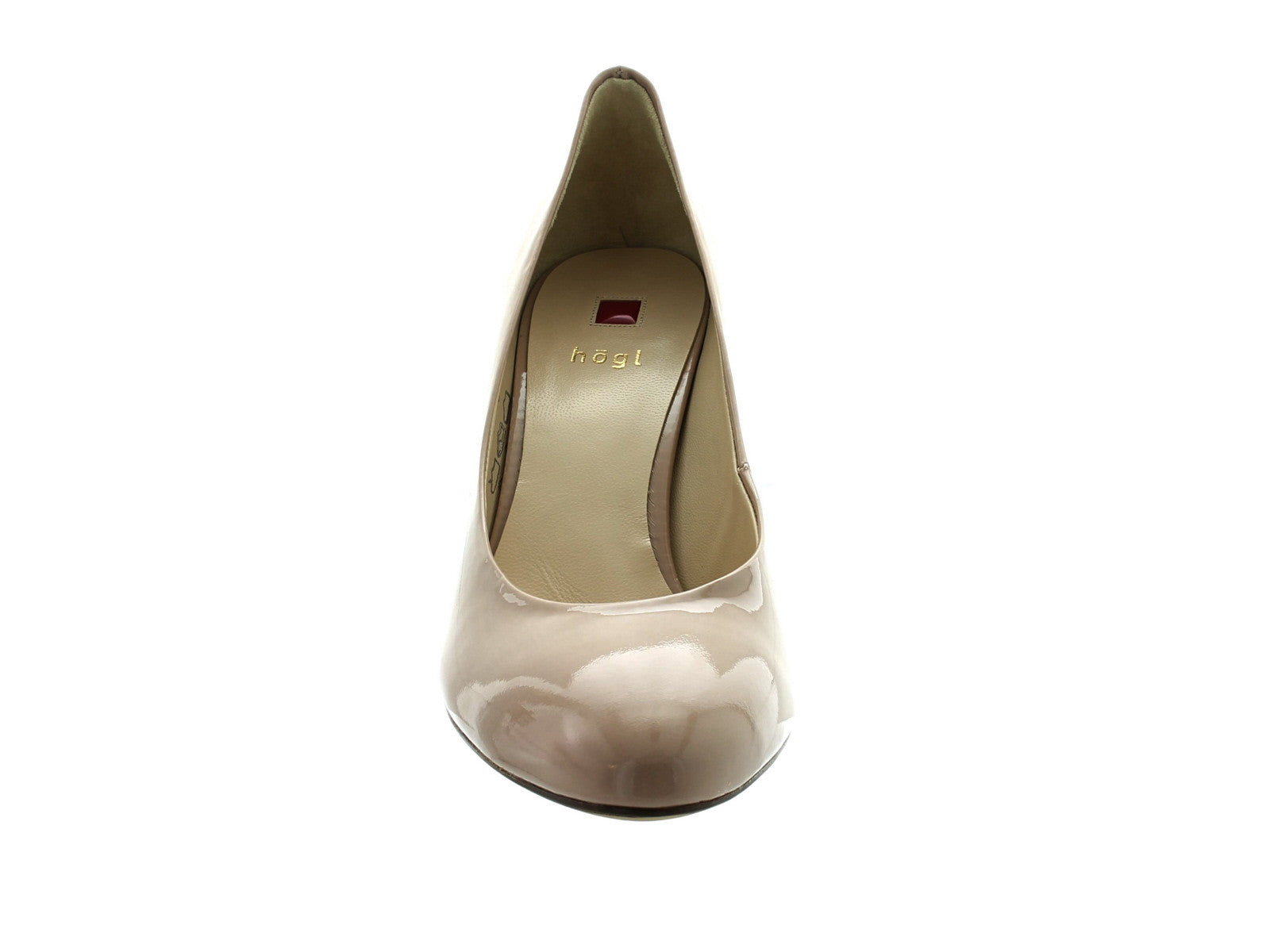 Hogl 6004 in Nude Patent front view