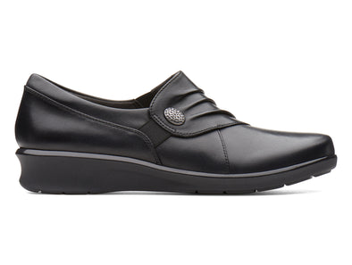 Clarks Hope Roxanne in Black Leather outer view