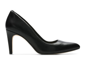 Clarks Laine Rae in Black leather outer view